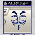 Guy Fawkes Anonymous Mask V Vendetta D3 Decal Sticker Blue Vinyl 120x120