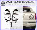 Guy Fawkes Anonymous Mask V Vendetta D3 Decal Sticker Carbon FIber Black Vinyl 120x97