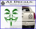 Guy Fawkes Anonymous Mask V Vendetta D3 Decal Sticker Green Vinyl Logo 120x97