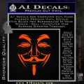 Guy Fawkes Anonymous Mask V Vendetta D3 Decal Sticker Orange Emblem 120x120