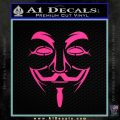 Guy Fawkes Anonymous Mask V Vendetta D3 Decal Sticker Pink Hot Vinyl 120x120