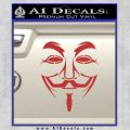 Guy Fawkes Anonymous Mask V Vendetta D3 Decal Sticker Red 120x120