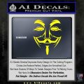 Guy Fawkes Anonymous Mask V Vendetta D3 Decal Sticker Yellow Laptop 120x120