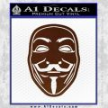 Guy Fawkes Anonymous Mask V Vendetta D4 Decal Sticker BROWN Vinyl 120x120