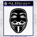 Guy Fawkes Anonymous Mask V Vendetta D4 Decal Sticker Black Vinyl 120x120