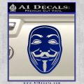 Guy Fawkes Anonymous Mask V Vendetta D4 Decal Sticker Blue Vinyl 120x120