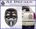 Guy Fawkes Anonymous Mask V Vendetta D4 Decal Sticker Carbon FIber Black Vinyl 120x97