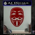 Guy Fawkes Anonymous Mask V Vendetta D4 Decal Sticker DRD Vinyl 120x120
