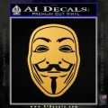 Guy Fawkes Anonymous Mask V Vendetta D4 Decal Sticker Gold Vinyl 120x120