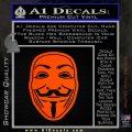Guy Fawkes Anonymous Mask V Vendetta D4 Decal Sticker Orange Emblem 120x120