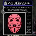 Guy Fawkes Anonymous Mask V Vendetta D4 Decal Sticker Pink Emblem 120x120