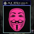 Guy Fawkes Anonymous Mask V Vendetta D4 Decal Sticker Pink Hot Vinyl 120x120