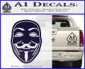 Guy Fawkes Anonymous Mask V Vendetta D4 Decal Sticker PurpleEmblem Logo 120x97