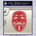 Guy Fawkes Anonymous Mask V Vendetta D4 Decal Sticker Red 120x120