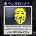Guy Fawkes Anonymous Mask V Vendetta D4 Decal Sticker Yellow Laptop 120x120