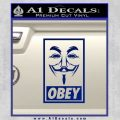 Guy Fawkes Anonymous Mask V Vendetta D7 Decal Sticker Obey Blue Vinyl 120x120