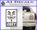 Guy Fawkes Anonymous Mask V Vendetta D7 Decal Sticker Obey Carbon FIber Black Vinyl 120x97