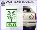 Guy Fawkes Anonymous Mask V Vendetta D7 Decal Sticker Obey Green Vinyl Logo 120x97