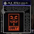 Guy Fawkes Anonymous Mask V Vendetta D7 Decal Sticker Obey Orange Emblem 120x120