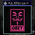 Guy Fawkes Anonymous Mask V Vendetta D7 Decal Sticker Obey Pink Hot Vinyl 120x120