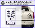 Guy Fawkes Anonymous Mask V Vendetta D7 Decal Sticker Obey PurpleEmblem Logo 120x97