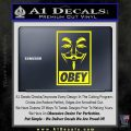 Guy Fawkes Anonymous Mask V Vendetta D7 Decal Sticker Obey Yellow Laptop 120x120