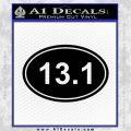 Half Marathon 13.1 Decal Sticker Running Black Vinyl 120x120