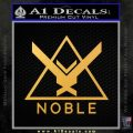 Halo Noble Team D1 Decal Sticker Gold Vinyl 120x120