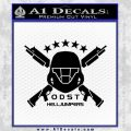 Halo Odst Helljumpers D1 Decal Sticker Black Vinyl 120x120