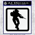 Halo Soldier Outline D2 Decal Sticker Black Vinyl 120x120