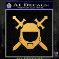 Halo Spartan Helmet Sticker Decal Gold Vinyl 120x120