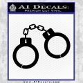 Hand Cuffs Decal Sticker Police Black Vinyl 120x120
