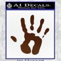 Handprint Decal Sticker BROWN Vinyl 120x120