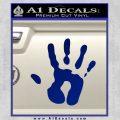Handprint Decal Sticker Blue Vinyl 120x120