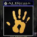 Handprint Decal Sticker Gold Vinyl 120x120