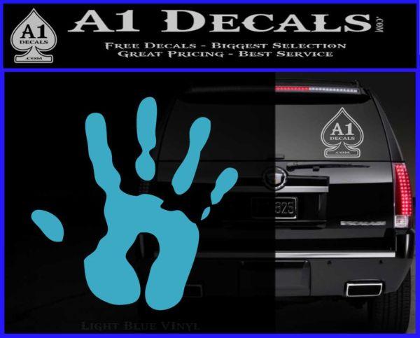 Handprint Decal Sticker Light Blue Vinyl