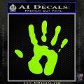 Handprint Decal Sticker Lime Green Vinyl 120x120