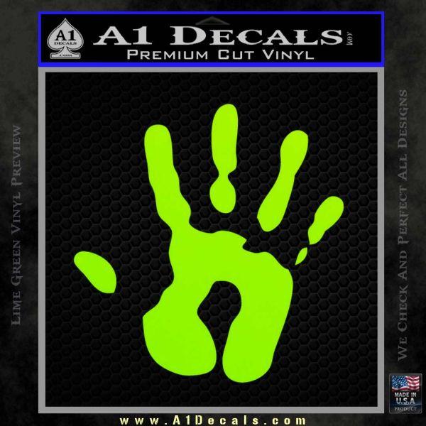 Handprint Decal Sticker 187 A1 Decals