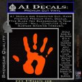 Handprint Decal Sticker Orange Emblem 120x120