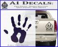 Handprint Decal Sticker PurpleEmblem Logo 120x97
