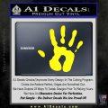 Handprint Decal Sticker Yellow Laptop 120x120