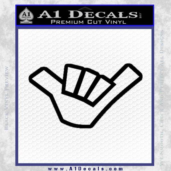 Hang Loose Shaka Brah D3 Decal Sticker A1 Decals