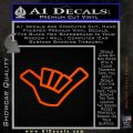 Hang Loose Shaka Brah D3 Decal Sticker Orange Emblem 120x120