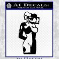 Harley Quinn Decal Sticker Black Vinyl 120x120
