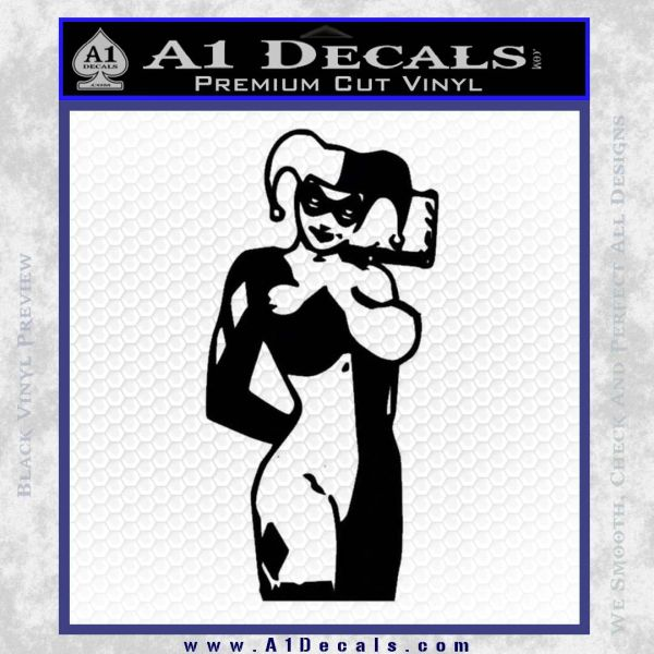 Harley Quinn Decal Sticker Black Vinyl