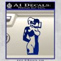 Harley Quinn Decal Sticker Blue Vinyl 120x120