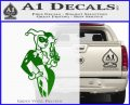 Harley Quinn Smoking Gun D2 Decal Sticker Green Vinyl Logo 120x97