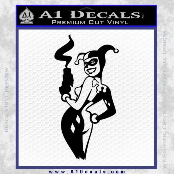 Harley Quinn Smoking Gun Decal Sticker 187 A1 Decals