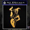 Harley Quinn Smoking Gun Decal Sticker Gold Vinyl 120x120