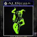 Harley Quinn Smoking Gun Decal Sticker Lime Green Vinyl 120x120
